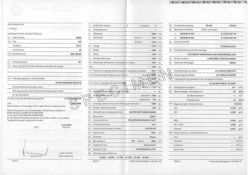 220 Bereinstimmungsbescheinigung Certifauto Coc Zertifikat Certifauto Certifauto Certificat